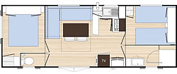 Plan Mobile home Standard 2 chambres
